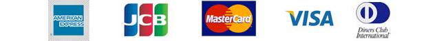 American Express JCB MasterCard VISA Diners Club International 楽R天 Rakuten KC